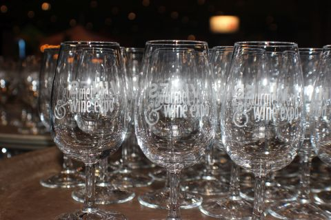 Gourmet Food & Wine Show glasses